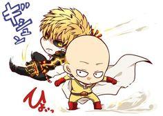 One Punch Man - Chibi Genos and Saitama
