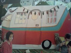 So cute! A child's play tent from the Crate &Barrel magazine. I immediately thought of Sister's on the Fly with this little trailer!