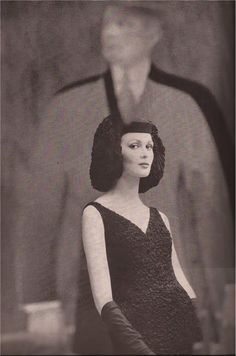 Dress: Galanos. Photo: Saul Leiter for Harper's Bazaar, November 1960. Model: Isabella Albonico.