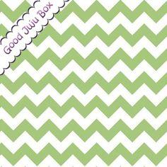 Stoff grafische Muster - Chevrons - Riley Blake - Grün - ein Designerstück von Good-Juju-Box bei DaWanda