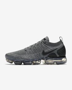 1d2b0e9eb01 Mens Nike Air VaporMax Flyknit 2 Running Shoe Dark Grey Wolf Grey Black