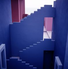 Image 10 of 25 from gallery of AD Classics: La Muralla Roja / Ricardo Bofill. Photograph by Ricardo Bofill Architecture Details, Interior Architecture, Tropical Architecture, Classical Architecture, Ricardo Bofill, Minimal Photography, Red Walls, Stairway To Heaven, Postmodernism