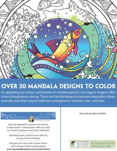 Welcome to Dover Publications  Creative Haven Nature Mandalas Coloring Book