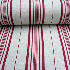 Linen Burgundy Loire Stripe Curtain Lining, Lined Curtains, Burgundy, Throw Pillows, Toss Pillows, Cushions, Decorative Pillows, Wine Red Hair, Decor Pillows