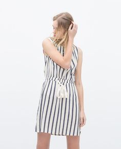Image 2 of VERTICAL STRIPE DRESS from Zara