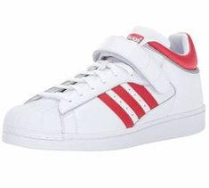 2704ee9b040 ADIDAS PRO SHELL Originals MENS White Scarlet BY4384 NEW