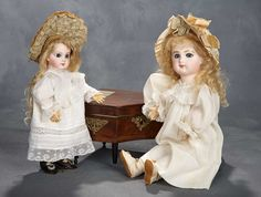 Beautiful Wide-Eyed French Bisque Bebe E.J. by Jumeau, Size 3 3500/4500