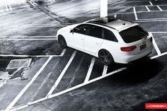 "Audi A4 Avant   Vossen 20"" CV3s Matte Graphite"