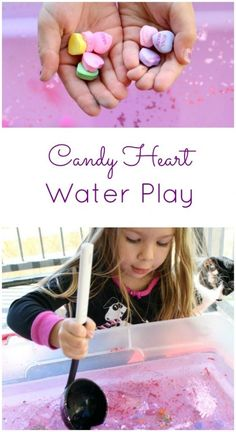 Candy Heart Water Play and Learning Activities for Valentine's Day