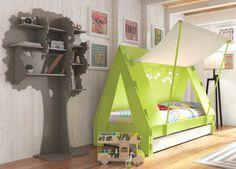 children cabin bed unique tent-shaped design