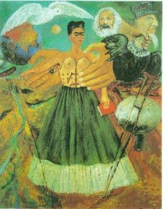 """Marxism Health Sick, El Marxismo Dara Salud a los Enfermos, Frida Kahlo, 1954 - In her last days, Frida added a political dimension to her work, it was her way of """"serving the Party"""". She stated: """"For the first time, I am not crying anymore"""", she said of this painting."""