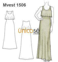 Moldes de vestidos de mujer