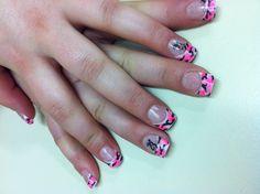 Browning buck and pink camo nails @ roseburg beauty school :)