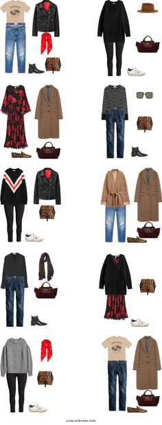 What to Pack for Strasbourg, France Packing Light List Outfit Options 1-10 | What to France | Packing Light | Packing List | Travel Light | Travel Wardrobe | Travel Capsule | Capsule |