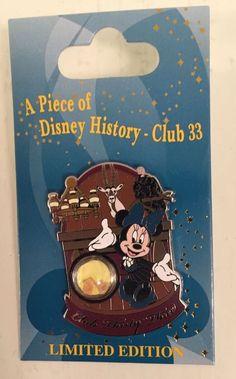 DISNEYLAND CLUB 33 - A PIECE OF DISNEY HISTORY Pin - New #Disney