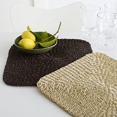 Abaca Chunky Square Placemat Set