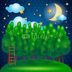 #Nocturnal, fantasy illustration #vector #stockimage
