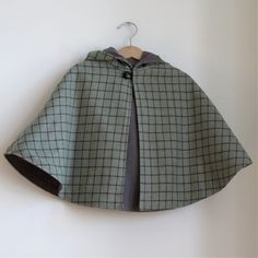 Sherlock Holmes Wool Detective Cape - Newborn, Baby, or Toddler Girls or Boys cape - sizes Newborn to 4T - cape, cloak, coat, jacket. $50.00, via Etsy.