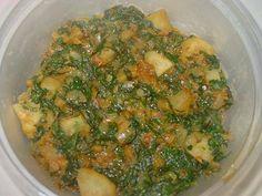 Palak Aloo - Potato Spinach Fry   Simple Indian Recipes