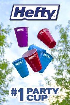 Save time on cleanup at your next party with these durable Hefty® Party Cups Party Cups, Big Party, Blue Cups, Crafts For Kids, Diy Crafts, Disposable Cups, Rock Painting Designs, Big Big, Clean Up