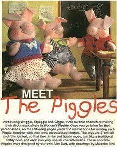 Ceci EuQfiz: Os três porquinhos de tecido