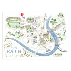 I've just found Alice Tait 'Map Of Bath' Print. This map captures all the beauty…