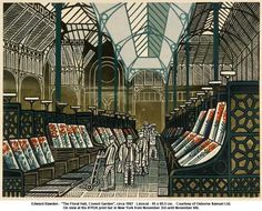 Edward Bawden - The Floral Hall, Covent Garden