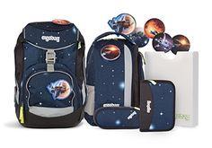 Ergobag Special Edition Galaxy Schulrucksack-Set Pack 6-tlg KoBärnikus blaue galaxie, Einschulung