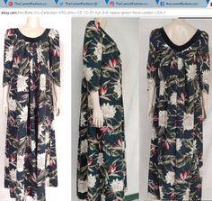 Bete Inc Collection dress 3Y full 3/4 sleeve green floral. vintage Hawaiian muumuu. 100% cotton. Made in USA. http://stores.ebay.com/thecurrentfashion/Dresses-/_i.html?_fsub=7072403012 | #TheCurrentFashion #style #fashion #eBay #eBayFashion #shopping #ootd #colorfuldress #prettydress #dress #fulldress #dresses #vintagedress #Hawaiiandress #muumuu #mumu #muumuudress #mumudress #cottondress #floraldress #greendress #resortwear #cruisewear #stylish #fashionable #womensfashion #springfashion