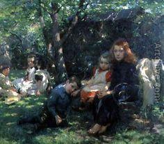 ArtistName:Walter Frederick Osborne PaintingTitle:Summertime, 1901 Year:1901