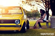 Mk1 Golf in Yellow