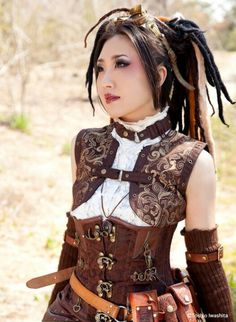 Aisian steampunk girl