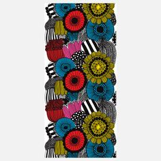 Siirtolapuutarha 55x118 Multi now featured on Fab  I grew up with Merimekko in our home. I love their designs still.