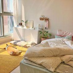 Room Design Bedroom, Room Ideas Bedroom, Bedroom Decor, Korean Bedroom Ideas, Deco Studio, Pastel Room, Minimalist Room, Pretty Room, Aesthetic Room Decor