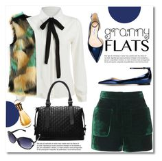 """""""Cute Trend: Granny Flats"""" by svijetlana ❤ liked on Polyvore featuring Topshop, Jimmy Choo, Christian Dior, polyvoreeditorial and grannyflats"""