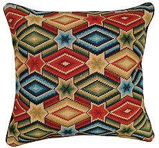 'Star & Diamond - Needlepoint Pillow'