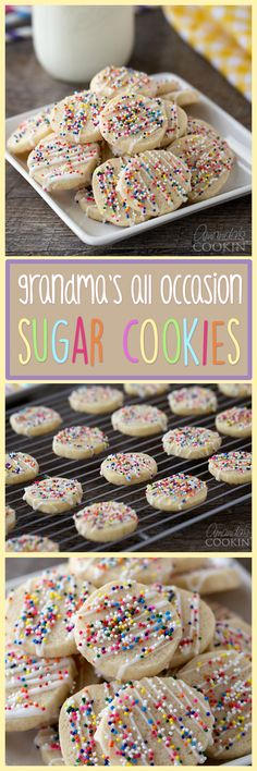 These sugar cookies are a huge hit, they're soft and chewy and every last bit of delicious. Bag a few up and hand them out to neighbors, friends, & family!