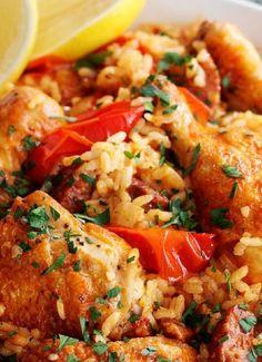 Low FODMAP & Gluten free Recipe - Chicken & paprika rice pot