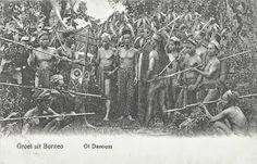 Dayak Warriors, Borneo Indonesia ca 1906