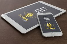 iPad and iPhone 6 on the stone - free mockup #free #psd #apple #ipad #iphone #digital #mockup #mobile #