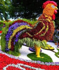 LOL.  I need a giant flower chicken in my yard!!