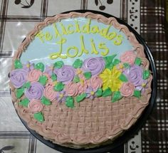 Cakes canasta de flores