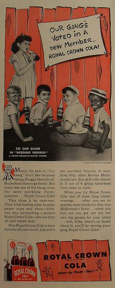 1941 The Little Rascals vintage advertisement RC Cola Royal Crown Soda