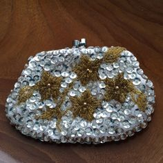 Vintage DeLill Handmade Sequined Coin Purse by ItsallforHim