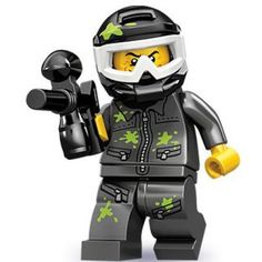 Black Friday 2014 Lego Series 10 Paintball Player Mini Figure from LEGO Cyber Monday. Black Friday specials on the season most-wanted Christmas gifts. Paintball Party, Paintball Gear, Lego Boards, Lego People, Lego Minifigs, Lego Toys, Custom Lego, Lego Creations, Warrior Princess