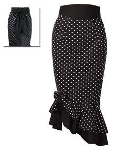 Polka dot skirt - Rockabilly Clothing - Shop for Rockabillies and Rockabellas