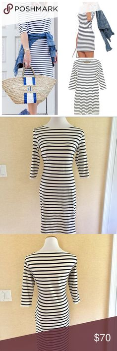 Saint James striped dress size 10 Classic shift dress in flattering stripes. It's soft stretchy material has active breathing properties for comfortable wear and is designed to protect your skin against harmful solar rays. Saint James Dresses