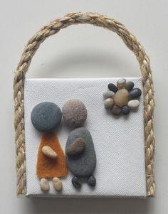 Stone Art Pebble Art Rock Art 3D Wall Art by PirkkosCreations