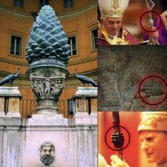 Vatican, Sumériens (..) La pomme de pin à travers les âges