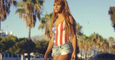Pretty African Woman In Casual Summer Clothing #African, #Beautiful, #DanielDash, #Denim, #Exotic, #Girl, #Outdoor, #PalmTrees, #Promenade, #Sexy, #Shorts, #Summer, #Sunset, #Urban, #Walking, #Woman https://goo.gl/BKPcDU